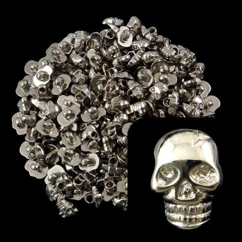 20 botones Skull plástico botón calavera cráneo 10x15mm-p00kn0070-ei