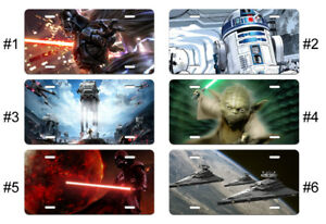 Yoda Star Wars Movie License Plate Car Tag Gift