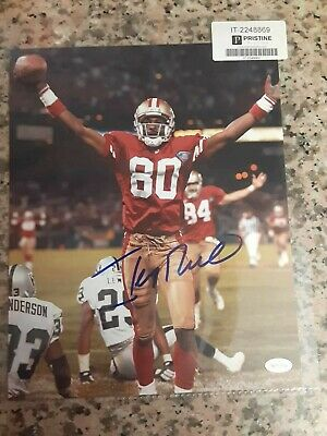 49ers Jerry Rice Engraved Collector Plaque w//8x10 Hall of Fame Photo