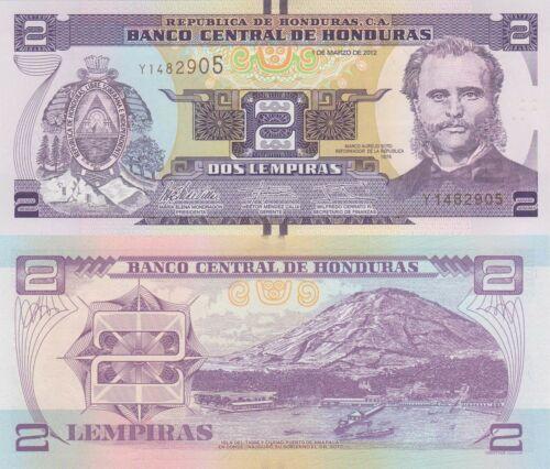 Honduras 2 Lempiras 1.3.2012 p97 UNC