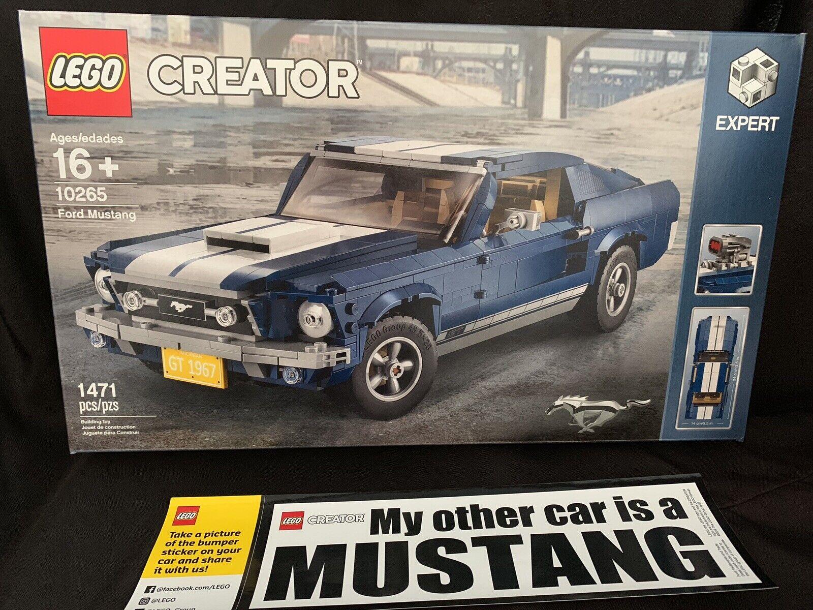 Lego Maker Expert 10265 Ford Mustang 1960 model New Building Kit w/Bumper Stic