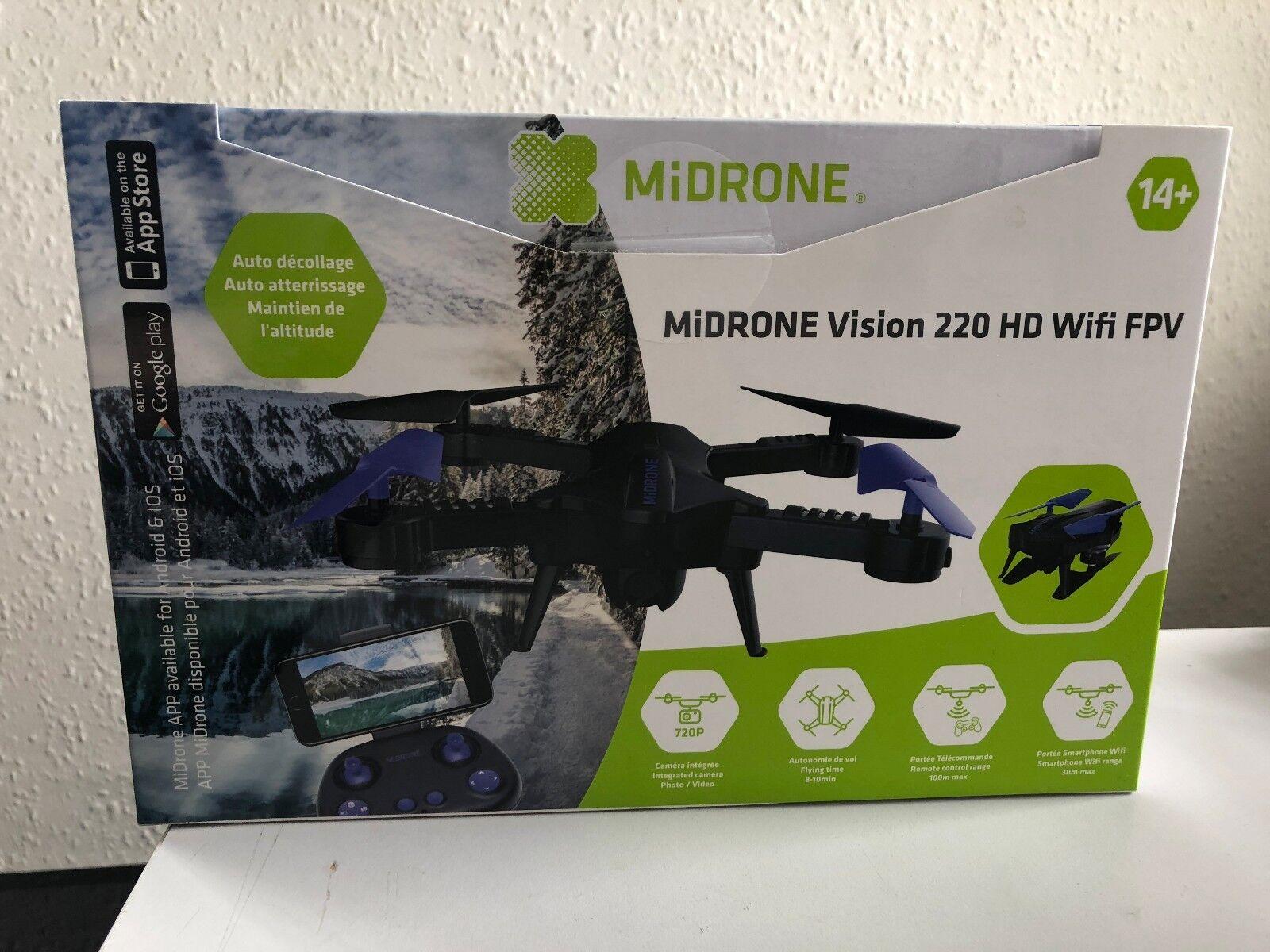 MiDrone Vision 220 HD Wifi FPV 720p Quadcopter Drone