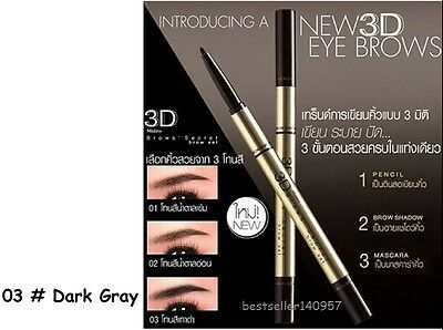 Mistine 3D Brows Secret Brow Set Eyebrow 3 in 1 Pencil Shadow Mascara
