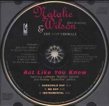 Natalie Wilson & S.O.P.: Act Like You Know Misprint PROMO MUSIC CD Darkchild 3tk