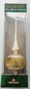1x-Christbaumspitze-Weihnacht-Cremeweiss-mit-Glitterrand-Gold-27-cm-Modell-075