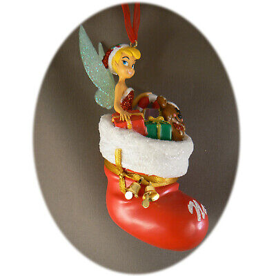 Paris Christmas Ornament.Disneyland Paris Tinkerbell Stocking Christmas Ornament Bauble Map Ebay