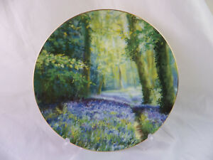 Wedgwood-Bluebell-Wood-Limited-Edition-Plate-22-Carat-Gold-Trim-Bone-China-2002