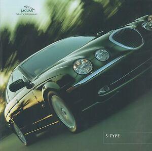 2001 jaguar s-type 3.0 v6 se 4.0 v8 brochure prospekt catalogue