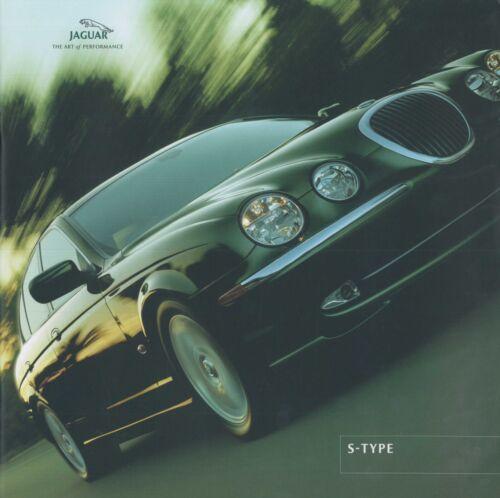 2001 JAGUAR S-TYPE 3.0 V6 SE 4.0 V8 BROCHURE PROSPEKT CATALOGUE ENGLISCH
