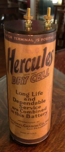 Lantern Antique Refillable #6 Hercules Dry Cell Battery Telephone Radio