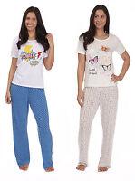 Womens Pyjamas Ladies Short Sleeve Pjs Set New Cotton Blend Sleepwear Size 8-22