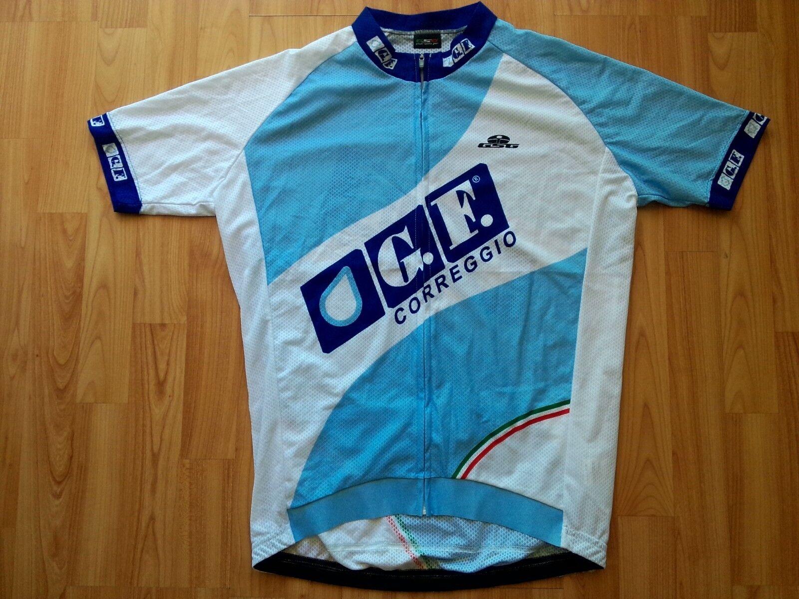 GSG ,Giessegi Full Zipp Professional Cycling Jersey GF. Correggio ,Size  L