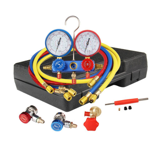 AC Manifold Gauge Set Quick Coupler Air Conditioner Refrigeration R134A R12 R22