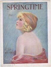 Springtime, Frederick Manning Art, 1920, vintage sheet music