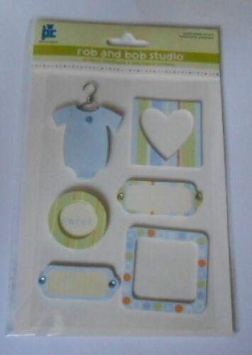 Pc rob /& bob studio sweet baby boy embellissement toppers pour cartes et artisanat