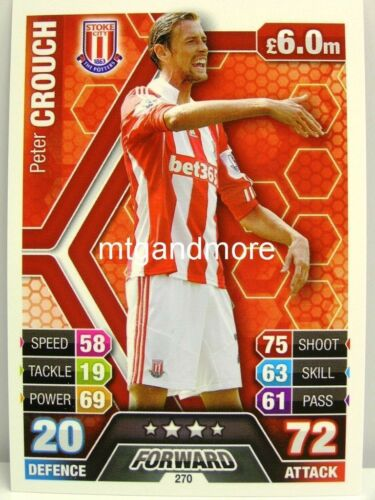 #270 Peter Crouch-Stoke City Match coronó 2013//14 Premier League