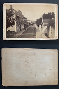 France, Arcachon, boulevard de la plage Vintage albumen print, carte cabinet.   eBay