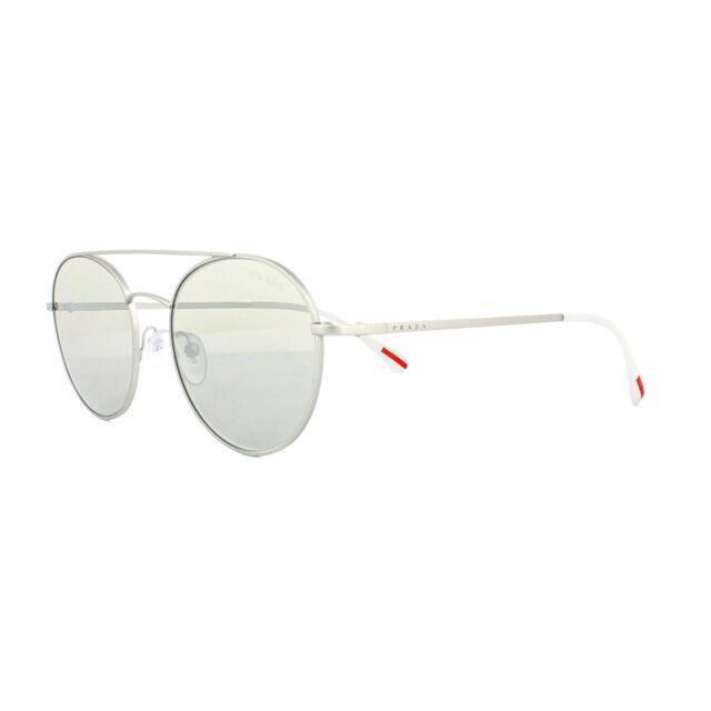 66cc7fea015d9 PRADA Linea ROSSA Sunglasses Matte Silver W silver Mirrored Lens Men Ps51ss  1ap2