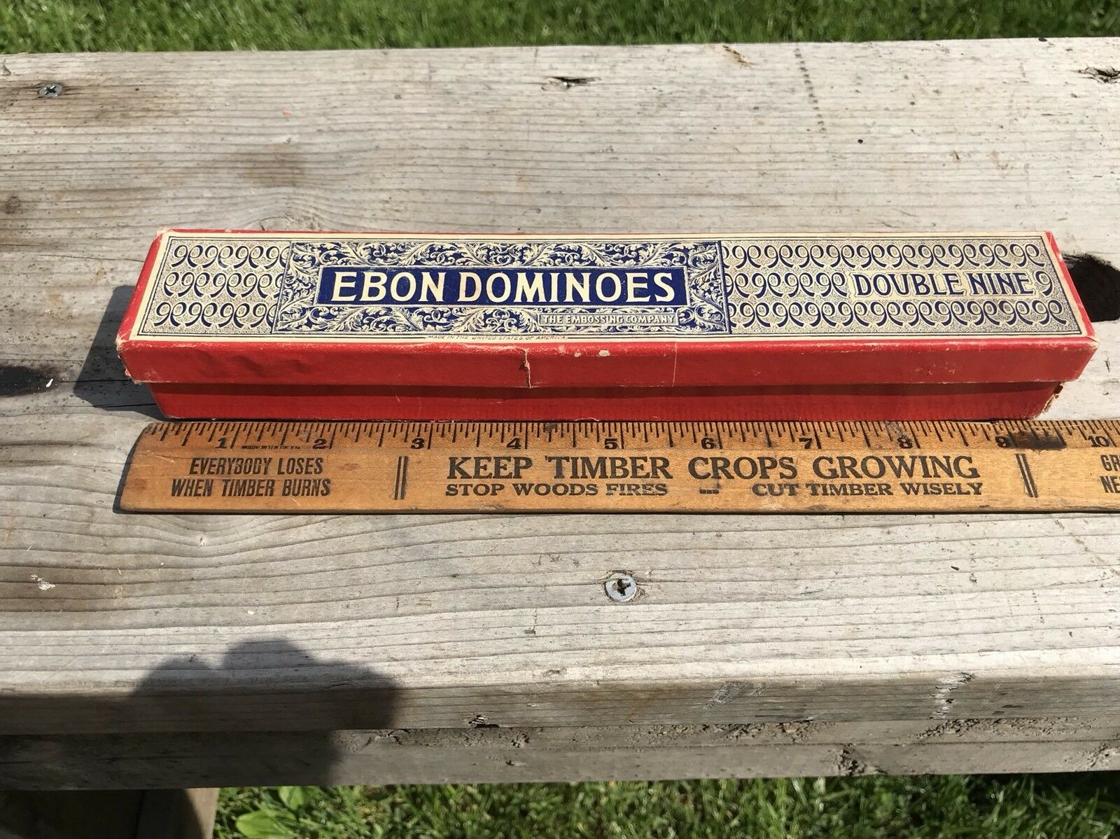 Antique Embossing Dominoes Double Nines , Mini, The Embossing Co.