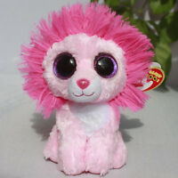 Ty Beanies Boos Pink Lion Fluffy 6 Stuffed Plush In Hand