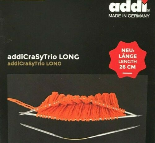 "length 26cm 10.2/"" addiCraSyTrio LONG Needle Set"