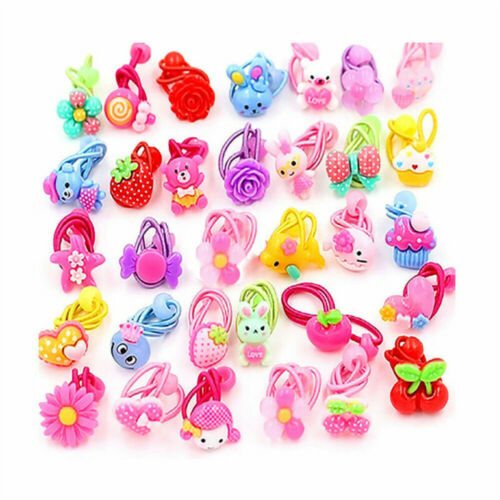 10* Candy Color Children Elastic Hair Band Headbands Ropes Girls Ponytail Holder