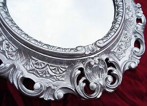 Espejos Espejo De Pared En Plata Ovalado 45 X 38cm Barroca Antiguo Reproducción Vintage Colours Are Striking Muebles Antiguos Y Decoración