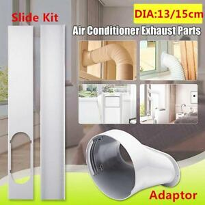 2x-Window-Slide-Kit-Plate-Window-Adaptor-15CM-Exhaust-Hose-For-Air-Conditioner