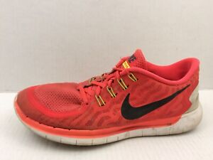 d8f639024e7 Nike Free 5.0 Running Shoes Mens 9 Med Bright Crimson Orange ...