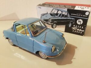 Tin-Toy-1960-039-s-Bandai-Japan-MAZDA-R-360-COUPE-039-very-rare-mint-in-repro-box