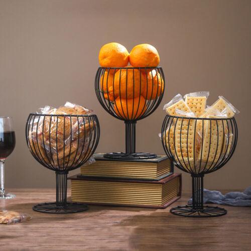 Wine Glass Shape Fruit Bowl Basket Dinning Table Kitchen Storage Rack Holder