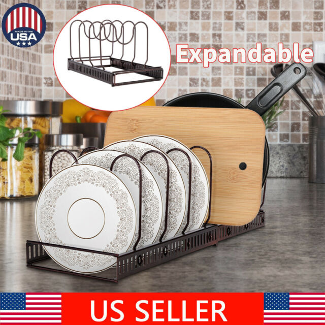 3 Tier Pan Lid Storage Rack Wall Mounted Pot Cover Organizer Holder for Kitchen