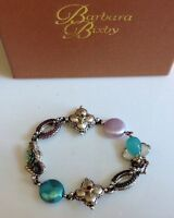 Barbara Bixby Sterling & 18k Mop Multi-gemstone Garden Bracelet (6-3/4 Fit)