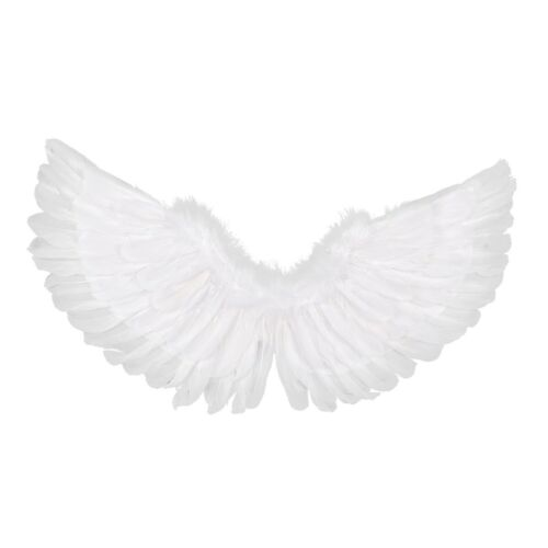 US Kids Unisex Glossy Metallic Angel Wings for Halloween Cosplay Party Costume