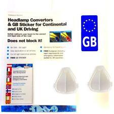 Car headlamp beam bender deflectors headlight reflectors + EURO GB sticker