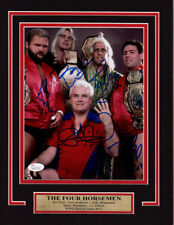 WWE WCW RIC FLAIR FOUR HORSEMEN 11X14 Matted Namplate PHOTO AUTOGRAPH JSA
