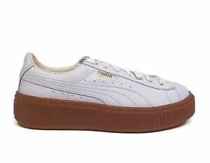 bfb228c0359 PUMA Women s BASKET PLATFORM CORE Casual Shoes Puma White Gum 364040 ...