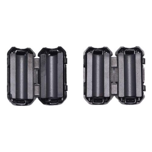 2pcs schwarz 5mm Clip-on Noise Ferritkern Ring Bead Filter RFI EMI KabelcliWLTE