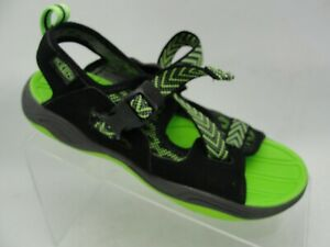 Keen-Kids-Boys-Girls-Sandals-Size-4-Neon-Green-Black-Water-Hiking-Summer-Shoe