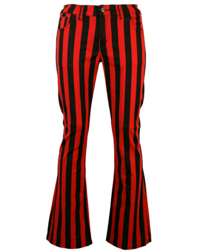 NEW Sixties Mod 60s Striped//Stripe// FLARES TROUSERS Beatles Harrison 70s MC105