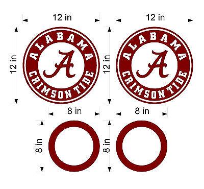 "2 Cornhole Hole Circle Decals 6/"""
