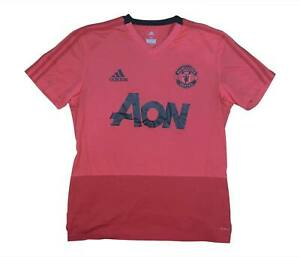 Manchester-United-2018-19-Authentic-Training-Shirt-eccellente-M-SOCCER-JERSEY