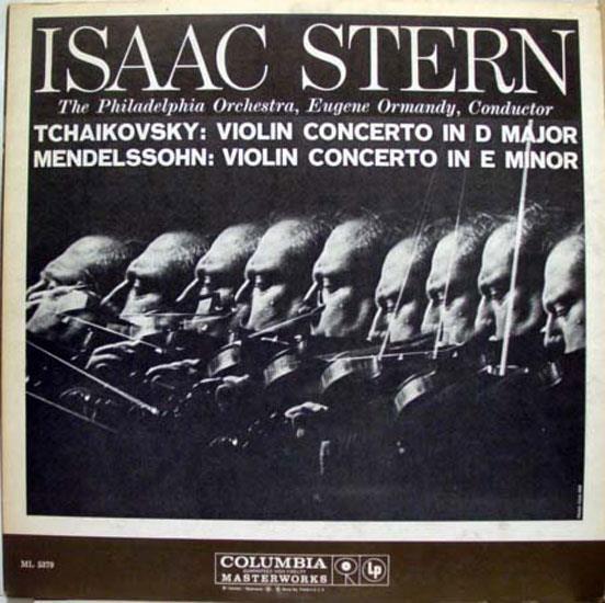 ISAAC STERN & ORMANDY tchaikovsky & mendelssohn LP VG+ ML 5379 USA 6 Eye CBS