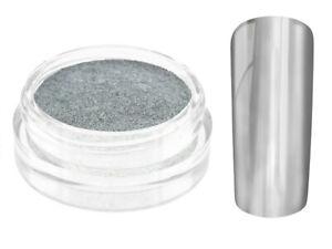 Nailart Mirror Chrome Puder silber Nagel Pulver Pigment Spiegel Glanz Gel LED UV