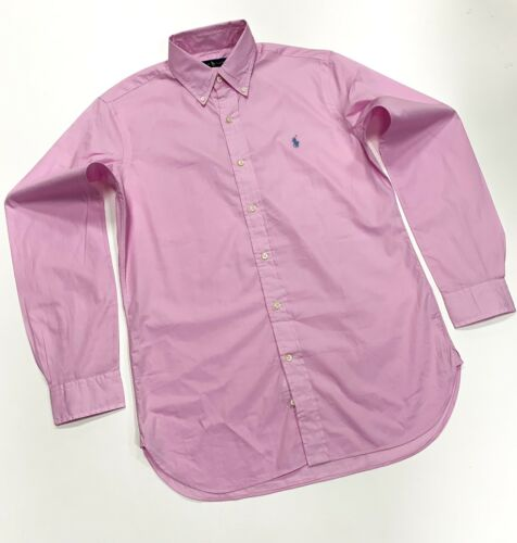Long Soft Ralph 15 Men's Pink 38 Cotton Sleeve Lauren Size Shirt Polo In TwUIqx8U