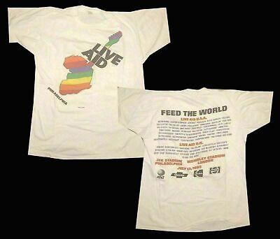 Limited Rare Live Aid 1985 Philadelphia Concert Fan Music T-Shirt S-5XL1
