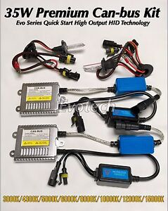 Fog Lights H1 35w 6000k Canbus Ac Hid Xenon Slim For 95 99