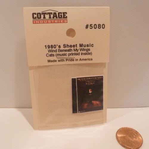PRINTED 2 DOLLHOUSE MINIATURE 1980/'S SHEET MUSIC
