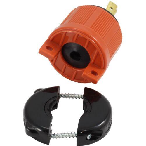 20 Amp NEMA L5-20P DIY Locking Male Plug Assembly by AC WORKS®