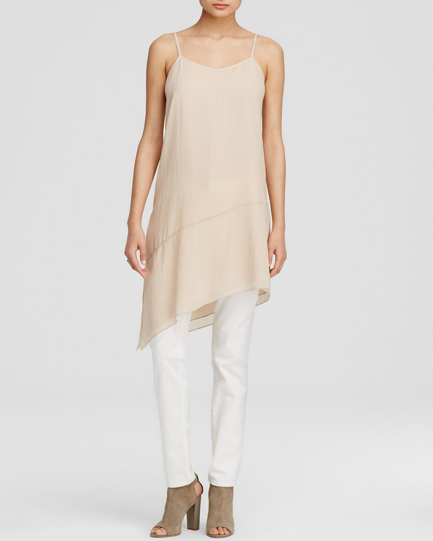 Eileen Fisher Project Asymmetrical Cami Silk Tunic Dress L NWT